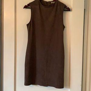 Brown suede chic dress